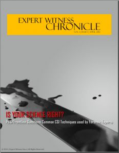 Expert Witness Chronicle is a free online magazine covering all aspects of expert witnessing.