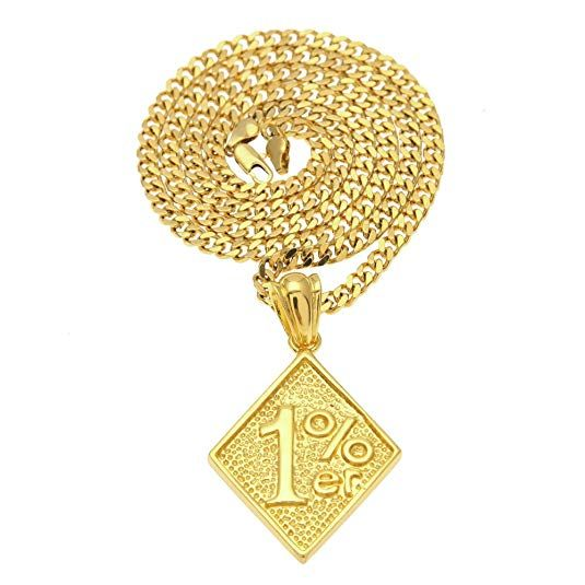Angelcrab Jewelry Hip Hop One Percent 1 Er Pendant Motorcycle Biker Necklace 27 Cuban Chain Pendants Necklaces Pendant Necklace Necklace Geometric Type