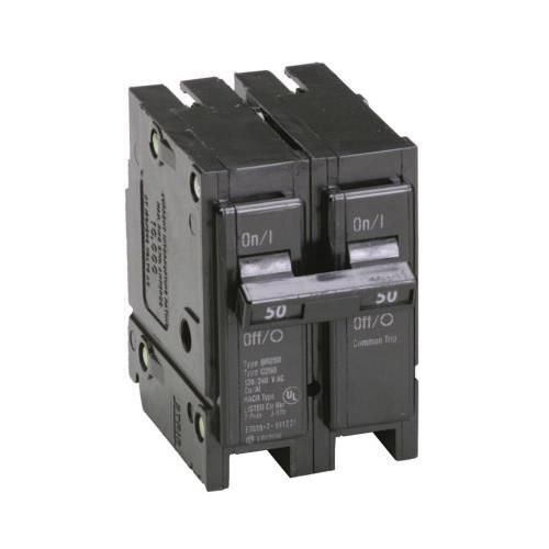 Eaton Br250 Plug On Mount Type Br Circuit Breaker 2 Pole 50 Amp 120 240 Volt Ac Circuit Eaton Breakers