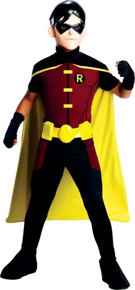 BATMAN Child Size Dark Knight Full Costume Mask Youth Kids New DC Comics Ages 6+