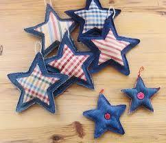 como hacer una estrella de navidad en tela paso a paso - Buscar con Google ornaments for tree: