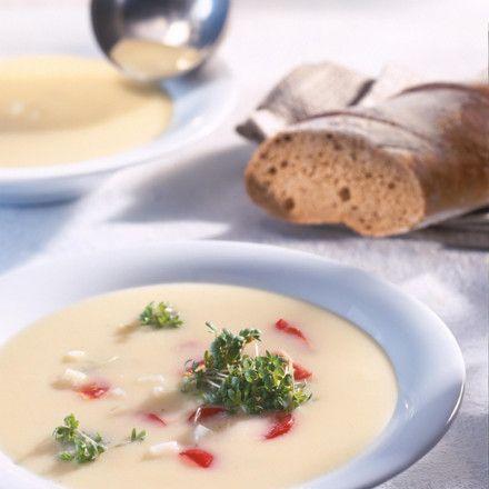 Kohlrabi-Cremesuppe mit Kresse Rezept