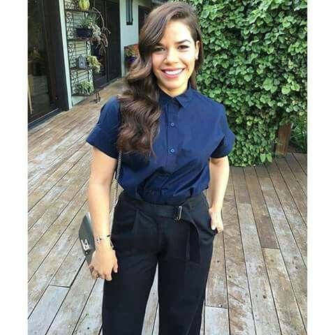 America Ferrera hair/ business casual: