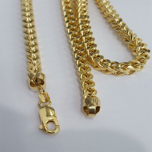 10k Yellow Gold Franko Heavy Solid Chain Necklance Men Man 27 Inches 5mm 37 Gram By Rg D This Gorgeous 10 Karat Yellow Gold Yellow Gold Chain Yellow Gold Gold
