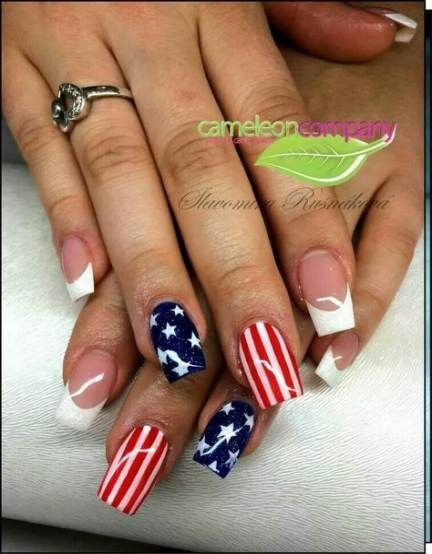 Super Nails Blue Red White American Flag Ideas American Flag Nails American Nails Flag Nails
