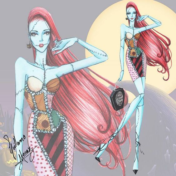 The Tim Burton Fashion Collection by Guillermo Meraz. 3- Sally