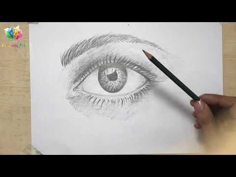 How To Draw An Eye Pencil Sketch Step By Step كيفية رسم العين Goz Eye Pencil Sketch Pencil Sketch Eye Drawing