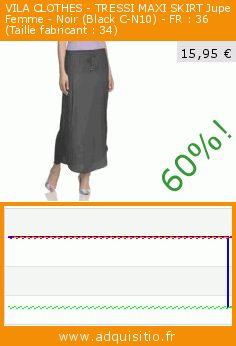 VILA CLOTHES - TRESSI MAXI SKIRT Jupe Femme - Noir (Black C-N10) - FR : 36 (Taille fabricant : 34) (Vêtements). Réduction de 60%! Prix actuel 15,95 €, l'ancien prix était de 39,95 €. https://www.adquisitio.fr/vila/clothes-tressi-maxi-skirt-1
