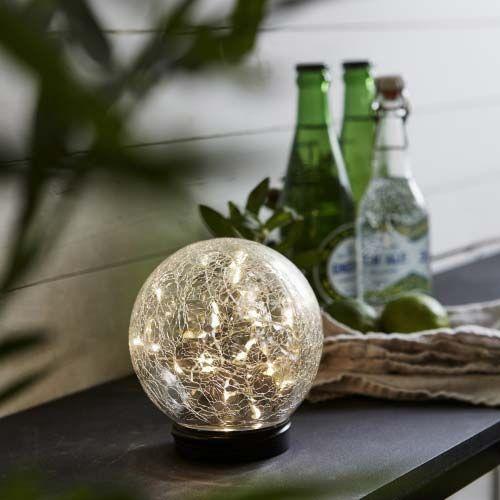 Premium Led Solarkugel Aus Echten Glas O 12cm Solarkugeln Solarleuchten Led