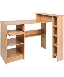 buy malibu compact corner desk beech at. Black Bedroom Furniture Sets. Home Design Ideas