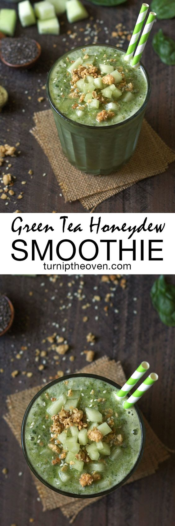 This green tea honeydew smoothie is loaded with the healing powers and health benefits of matcha! Light, sweet, and refreshing, it makes the perfect gluten-free, vegan power breakfast.