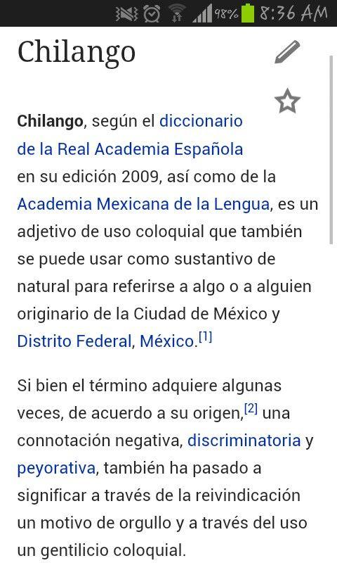 Definición de chilango