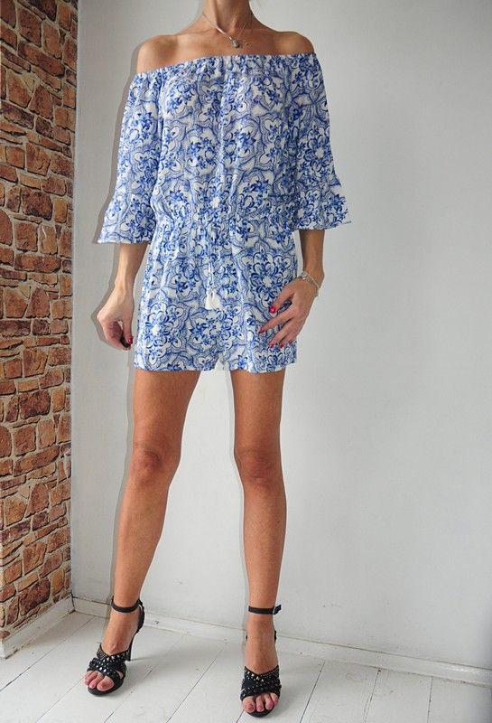 F F Kombinezon Bialy Kwiatki Hiszpanka 40 Vinted Pl Dresses Fashion Off Shoulder Dress