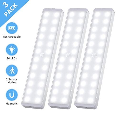 Led Closet Light 24 Led Rechargeable Motion Sensor Closet Light Wireless Under Cab In 2020 Motion Sensor Closet Light Led Closet Light Under Cabinet Lighting Wireless