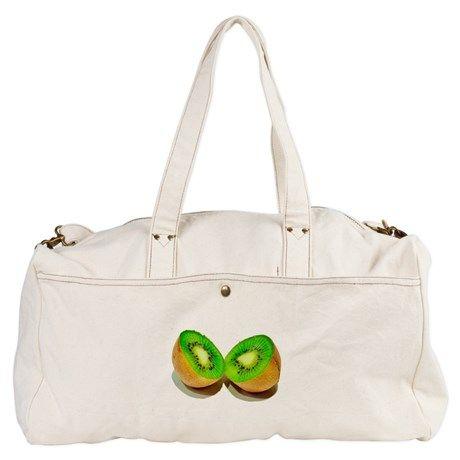 kiwi green fruit Duffel Bag on CafePress.com