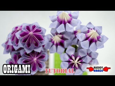 Origami Rose Easy - Origami Tutorial - YouTube | 360x480