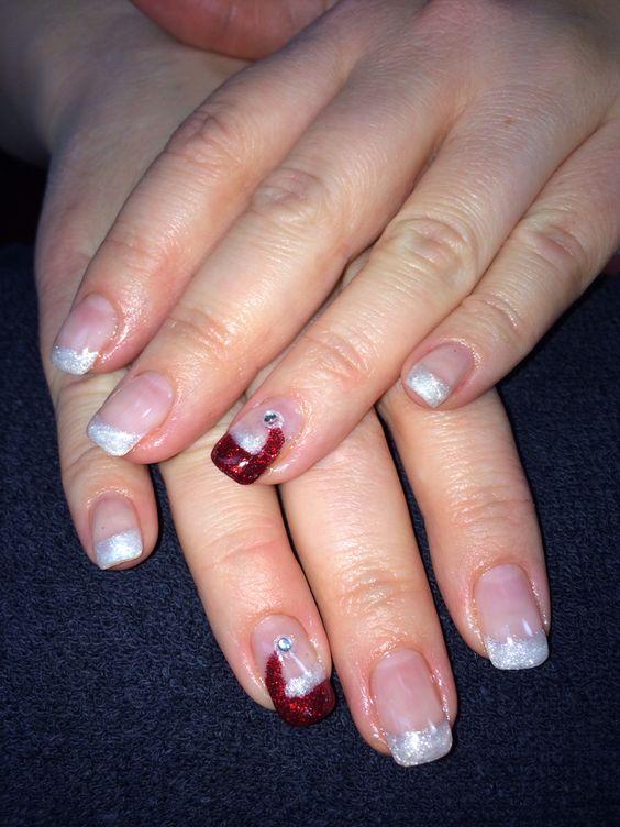 Mindy's nails. Christmas gel nail art.