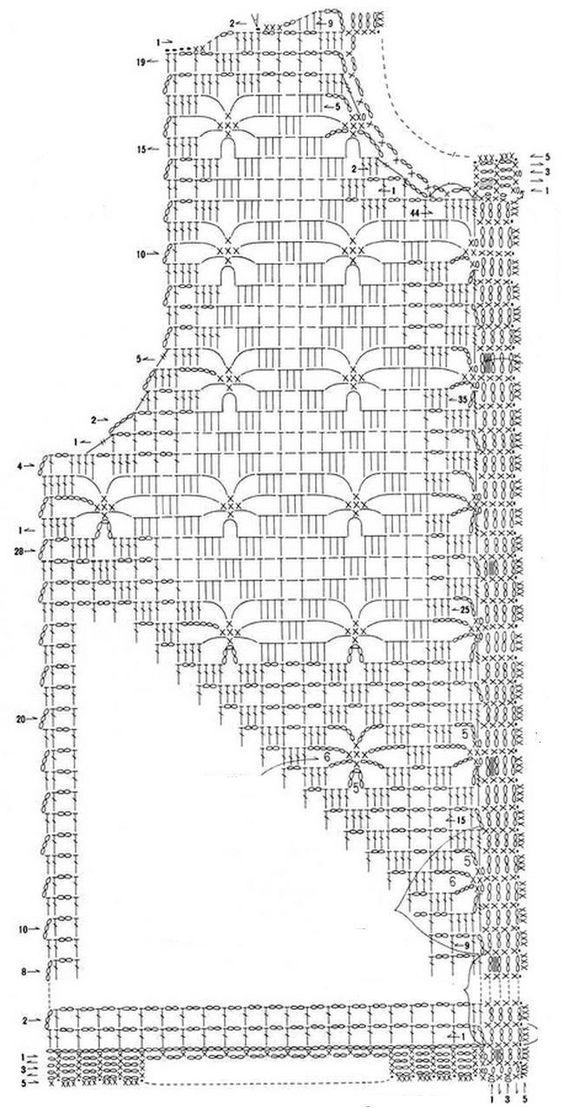 Crochet+Cardigan+pattern+Ondori+1+%283%29.jpg 650×1,277 pixeles