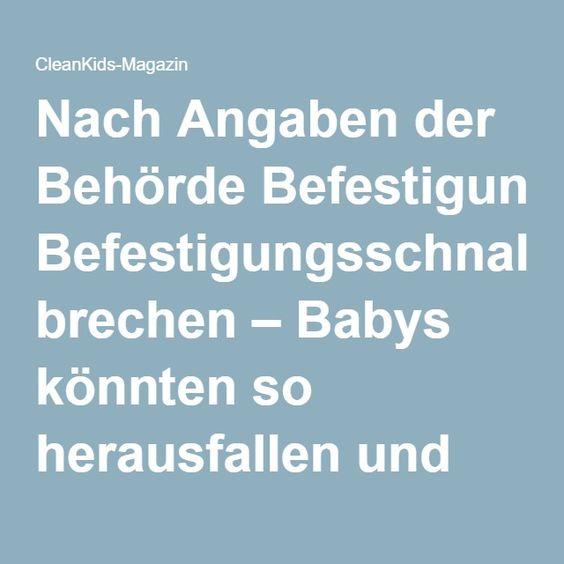 Nach Angaben der Behörde Befestigungsschnallen brechen – Babys könnten so herausfallen und dabei schwer verletzt werden. Das Unternehmen hat weltweit bereits 13 Meldungen über gebrochene Schnallen erhalten.  Die Babytragen werden über verschiedene Anbieter auch in Deutschland verkaft. Eltern sollten diesenRückruf unbedingt beachten.