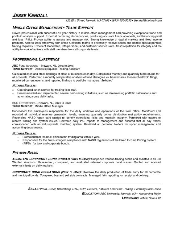 Proprietary Trading Resume - http\/\/wwwresumecareerinfo - resume professional writers reviews