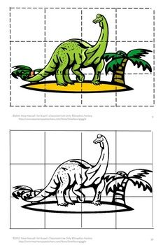 Puzzles are not only fun for children they have a lot of benefits. Some of those benefits are developing problem solving skills, fine motor skills, and hand eye coordination. Students will enjoy these Dinosaur inspired puzzles. Students cut out puzzle pieces and then paste onto the corresponding page. Or, if you prefer, laminate them and use them as a regular puzzle that can be worked again and again.: