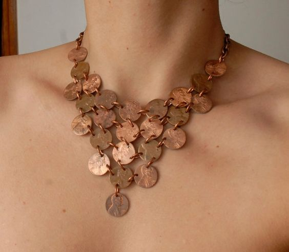 25 Cent Triangle Penny Necklace by ampandolph