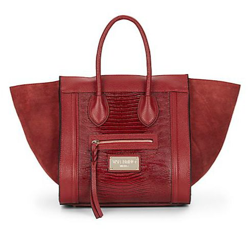 celine tasche online shop - Valentino By Mario Valentino | Cynthia Leather & Suede Top-Handle ...