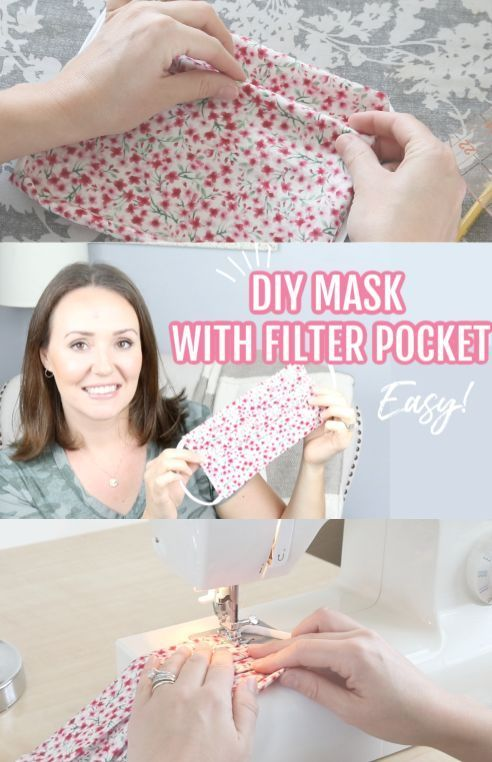 Face Mask Pattern With Filter Face Mask Pattern In 2020 Diy Face Mask Diy Mask Diy Face