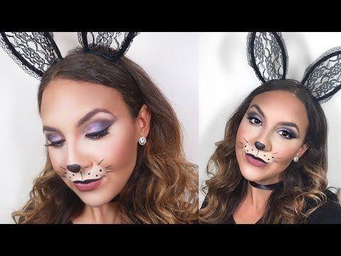 Cute Simple Bunny Makeup Halloween Tutorial Youtube Bunny Halloween Makeup Bunny Makeup Halloween Makeup Looks