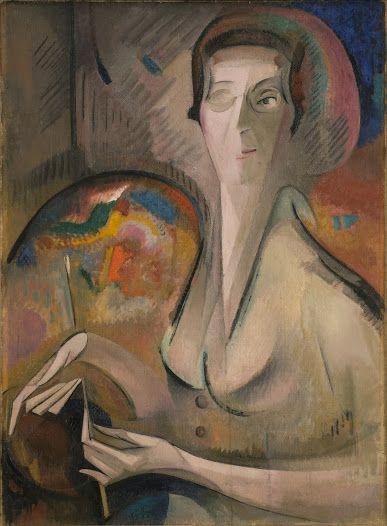Alice Bailly 1872-1938 Oil on canvas pull-eenvoudige lijnen creëren duidelijk beeld push-incompleet gezicht