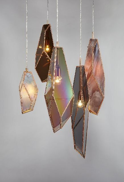 These Beautiful Geode Light Sculptures Would Look Perfect Over A Dining Table This Lighting Idea Is A Statement Piece Yet Simply Light Sculpture Lights Light