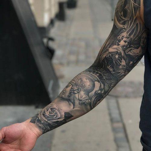 Unique Full Sleeve Tattoos Best Full Arm Sleeve Tattoos For Men Cool Sleeve Tattoo Designs And Ideas T Sleeve Tattoos Full Sleeve Tattoos Tattoo Sleeve Men