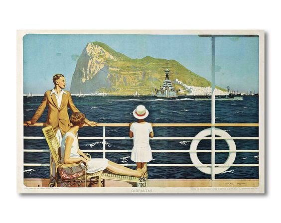 Gibraltar Travel Poster by Charles Pears 1928  Poster by WallArty