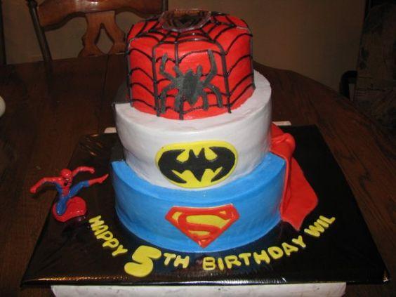 more superhero cakes