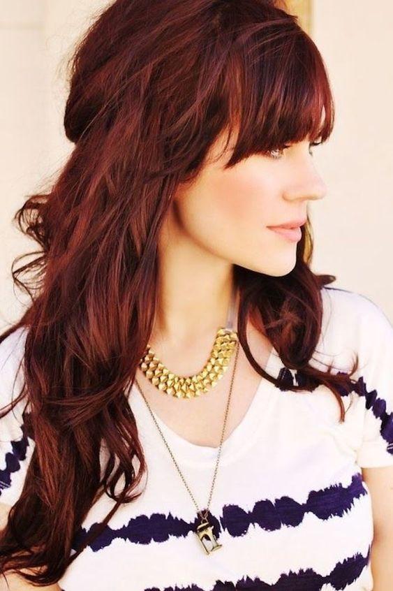 Coloration cheveux le broux ou le roux pour les brunes - Quelle couleur porter quand on est rousse ...