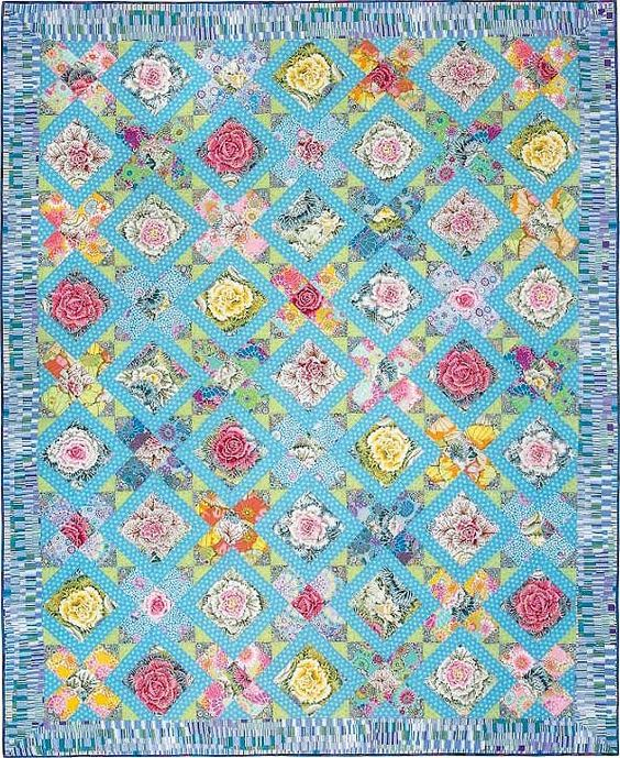 The Lorna Doone Quilt Is Featured And Patterned In The New Book Kaffe Fassett S Quilt Grandeur To Purchase A Kaffe F Quilts Kaffe Fassett Quilts Quilt Kits