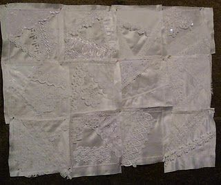crazy quilting, lace