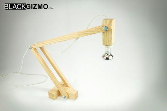 Wooden Desk Lamp DL016 by blackgizmo on Etsy