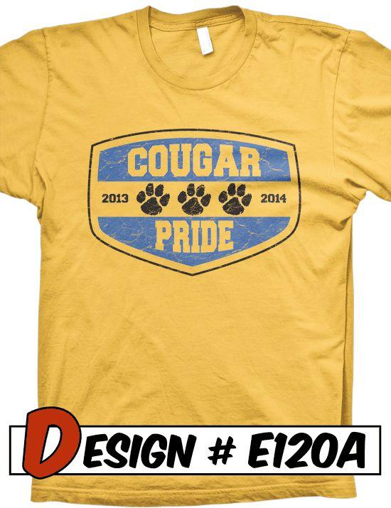 School Tshirt Design Ideas | Lion Mascot T-Shirt Design Ideas
