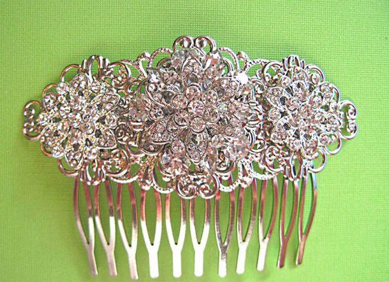 Wedding accessories  Bridal Hair Hair Comb by MissJoansBridal, $37.50: Wedding Accessories, Hair Hair, Missjoansbridal 37, Bridal Hair, 37 50, Accessories Bridal, Hair Combs