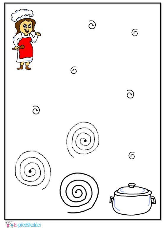 Kuchařka - povolání - grafomotorika