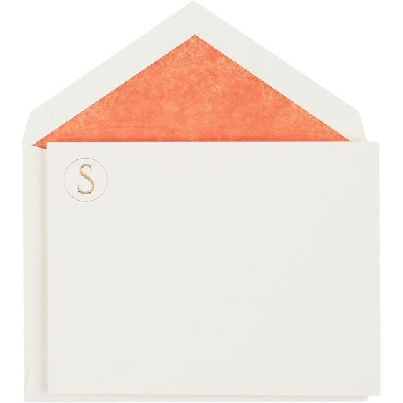"""Connor Monogram Letter """"S"""" Stationery Set (285 BRL) ❤ liked on Polyvore featuring home, home decor, stationery and multi"""