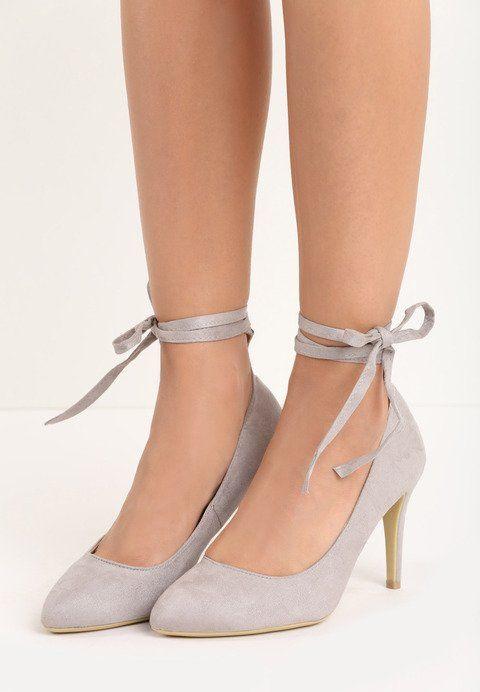 Szare Szpilki Coby Shoes Pumps Heels