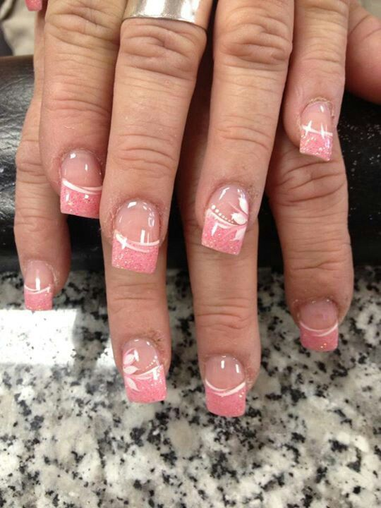 Straight Line Nail Art : Pink nail art nails and straight lines on pinterest