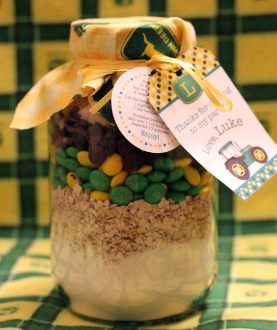 John Deere cookie mix in a jar