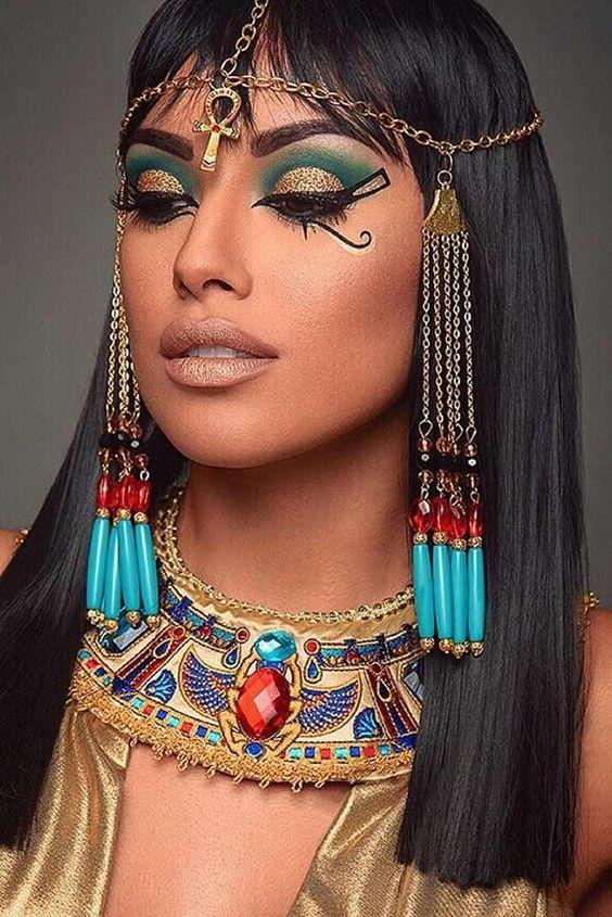 Cleopatra - machiaje de halloween