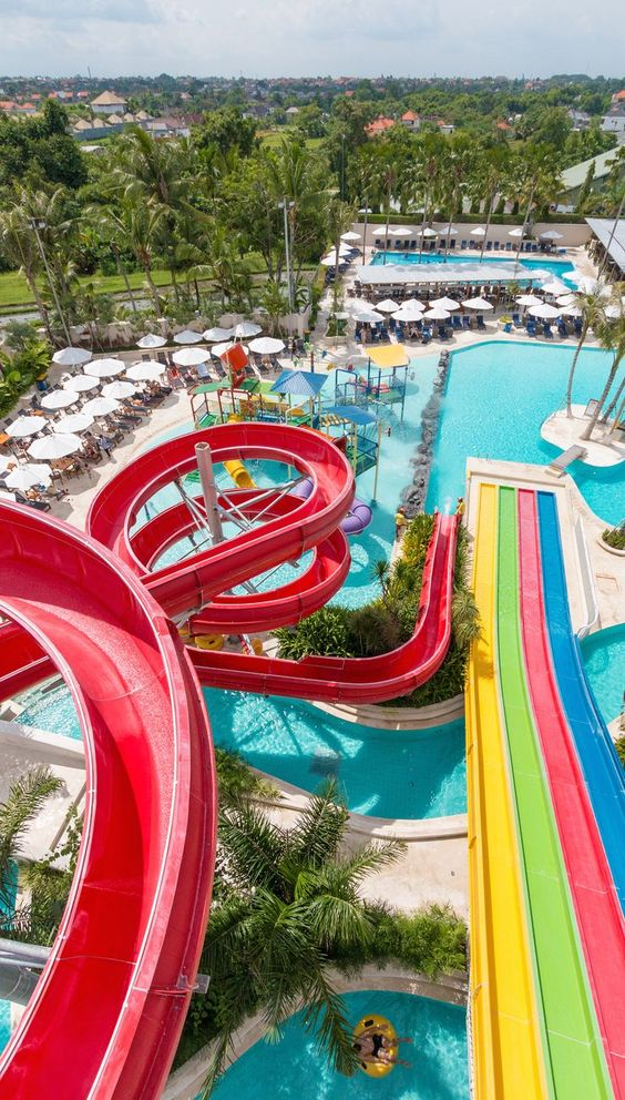 Splash Waterpark. Bali continues to grow and surprise us every time we return. Canggu Club recently opened it's doors to non-members and launched 4 new major facilities: a waterpark, kids club, indoor trampolines, and 10 pin bowling. Find out how it stacks up against Bali's other popular attractions. TRAVEL WITH BENDER | Family Travel