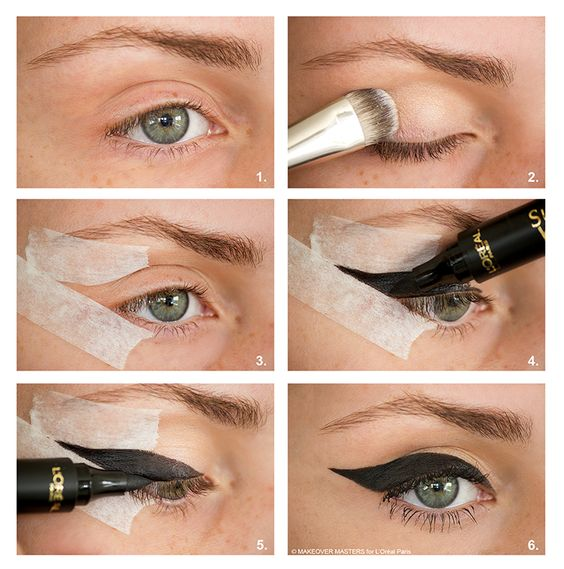 Bold Feline Flick: step by step for L'Oréal Paris.