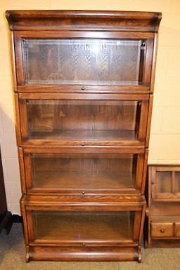 Mission 4 Stack Barrister Bookcase Beveled Glass Affordable Furniture Furniture Makeover