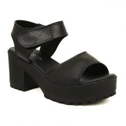 Simple Women's Sandals With Solid Color and Velcro Design